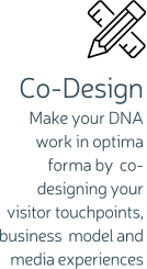 Co-Design Make your DNA work in optima forma by co-designing your visitor touchpoints, business model and media experiences